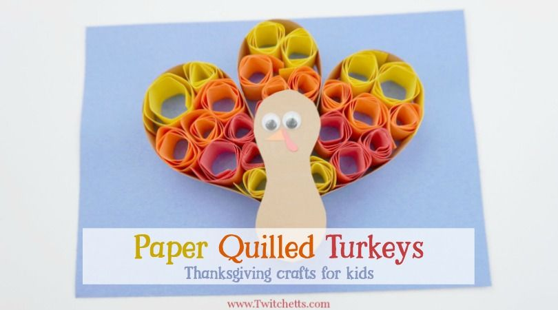 Construction Paper Quilling Turkey Thanksgiving Crafts For Kids