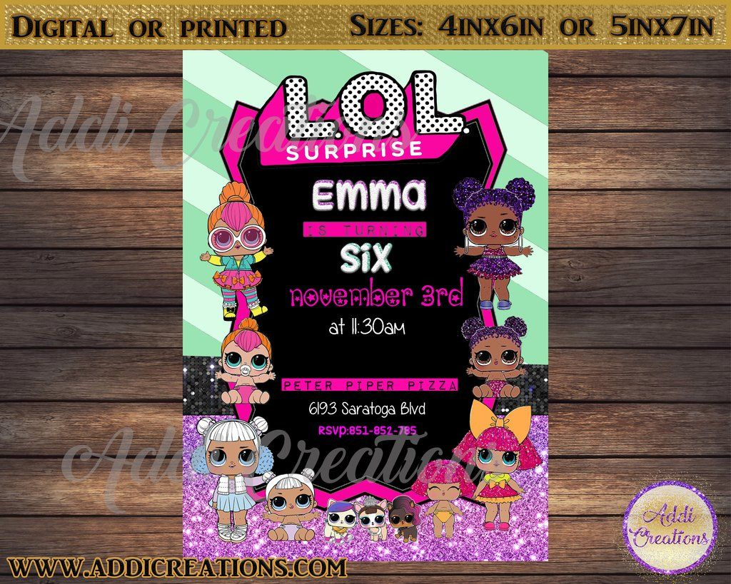 Lol Surprise Invitations Lol Surprise Birthday Invitations Lol Surprise Party Theme Surprise Birthday Invitations Surprise Party Themes Birthday Surprise