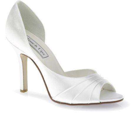 White Touch Ups Flash Bridal Shoes
