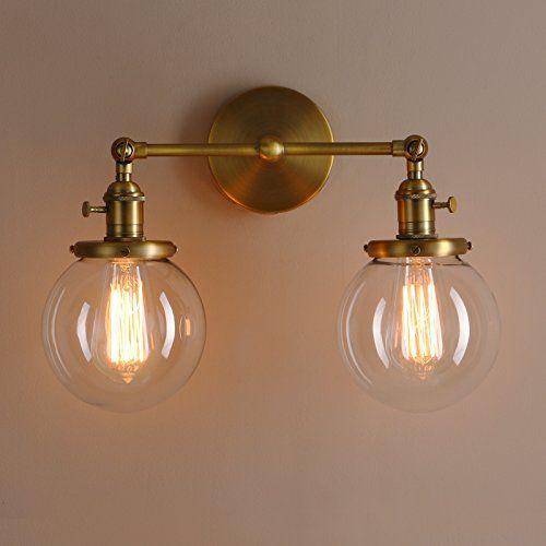 Permo Double Sconce Vintage Industrial Antique 2 Lights W Https Www Amazon Com Dp B01ncwb544 Ref Cm Vintage Sconce Antique Lamp Shades Wall Lights Bedroom