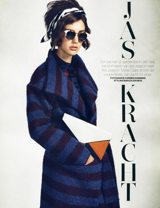 In Marie Claire Netherlands October 2013 issue, our AW13/14 Red Label Stripe Wool Jacket has been featured.