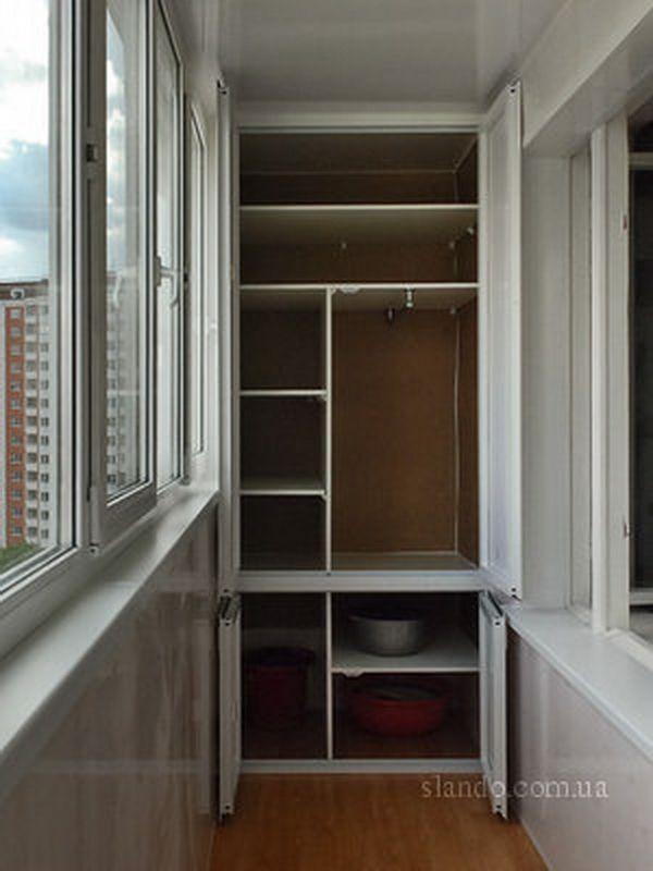 шкафы на балконе фото