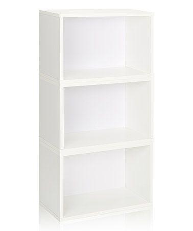 Another great find on #zulily! White Stackable Hillcrest Modular Storage Shelf - Set of Three #zulilyfinds