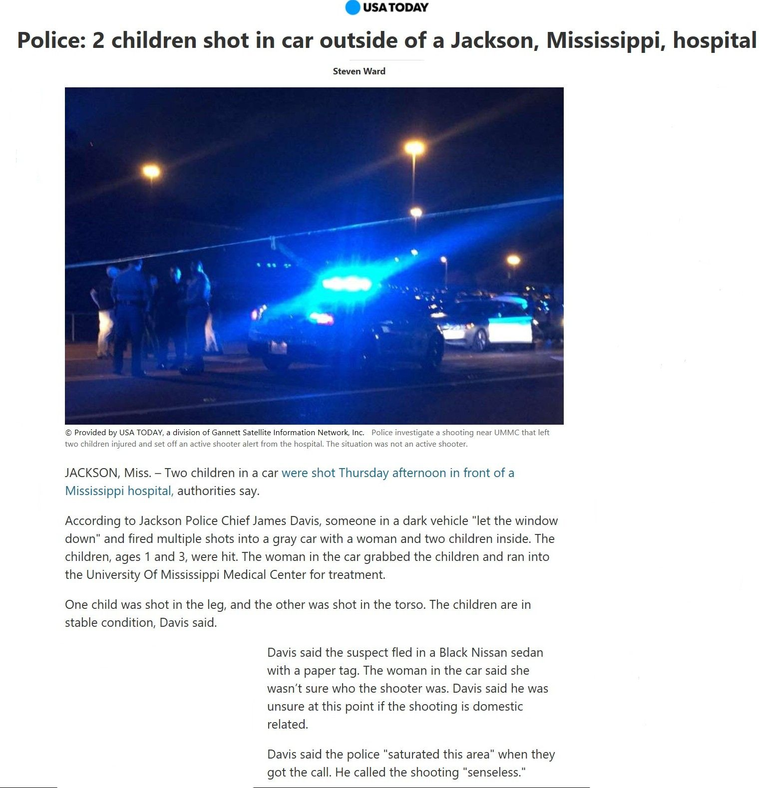 Some psycho had nothing else to do so in a drive by shooting