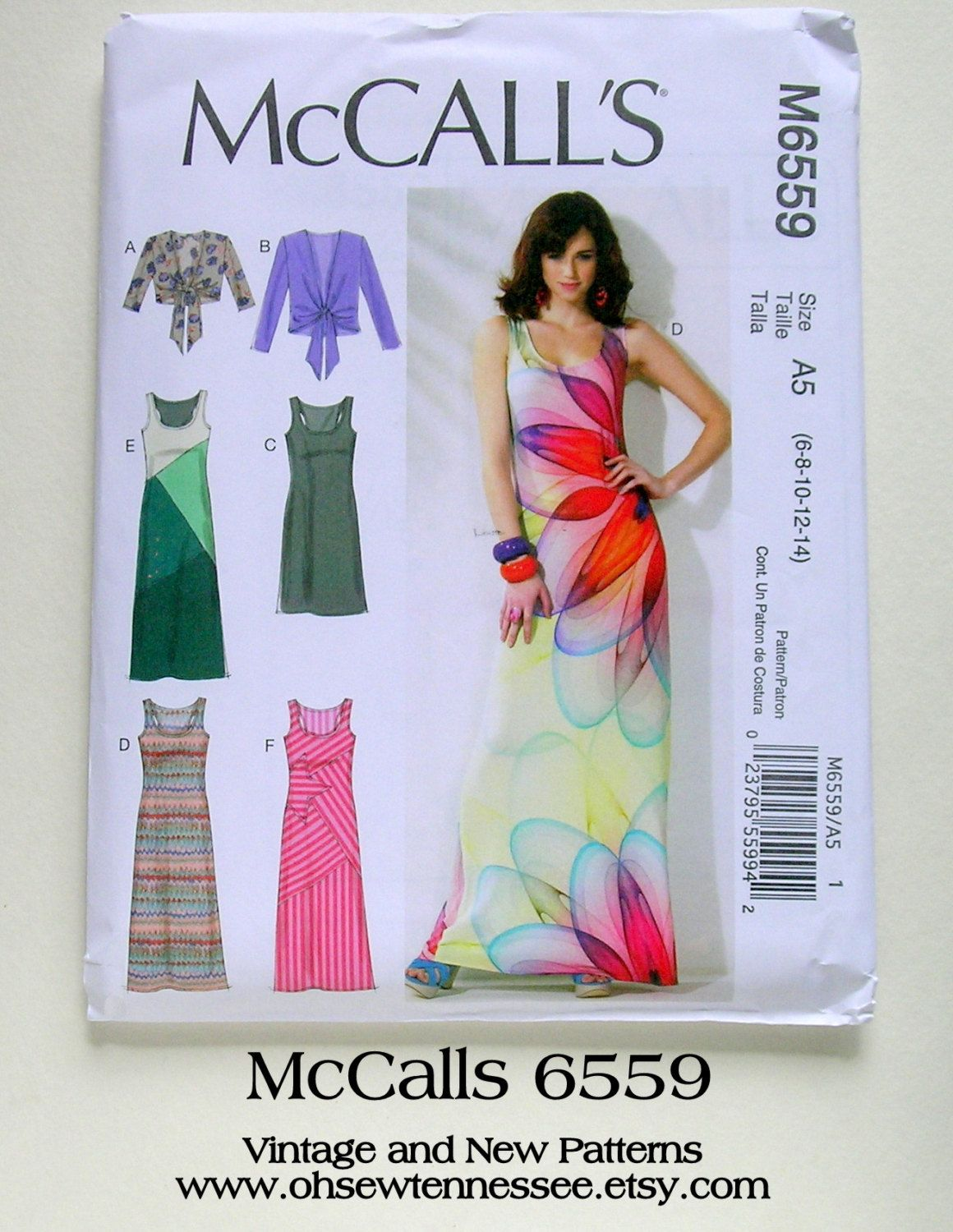 Ladiesu long or short dress and unlined jacket mccalls new