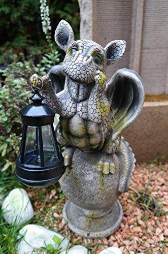 Pin von nicole mann auf skulpturen pinterest drachen drachen kinder und garten - Solarlampen garten kugel ...