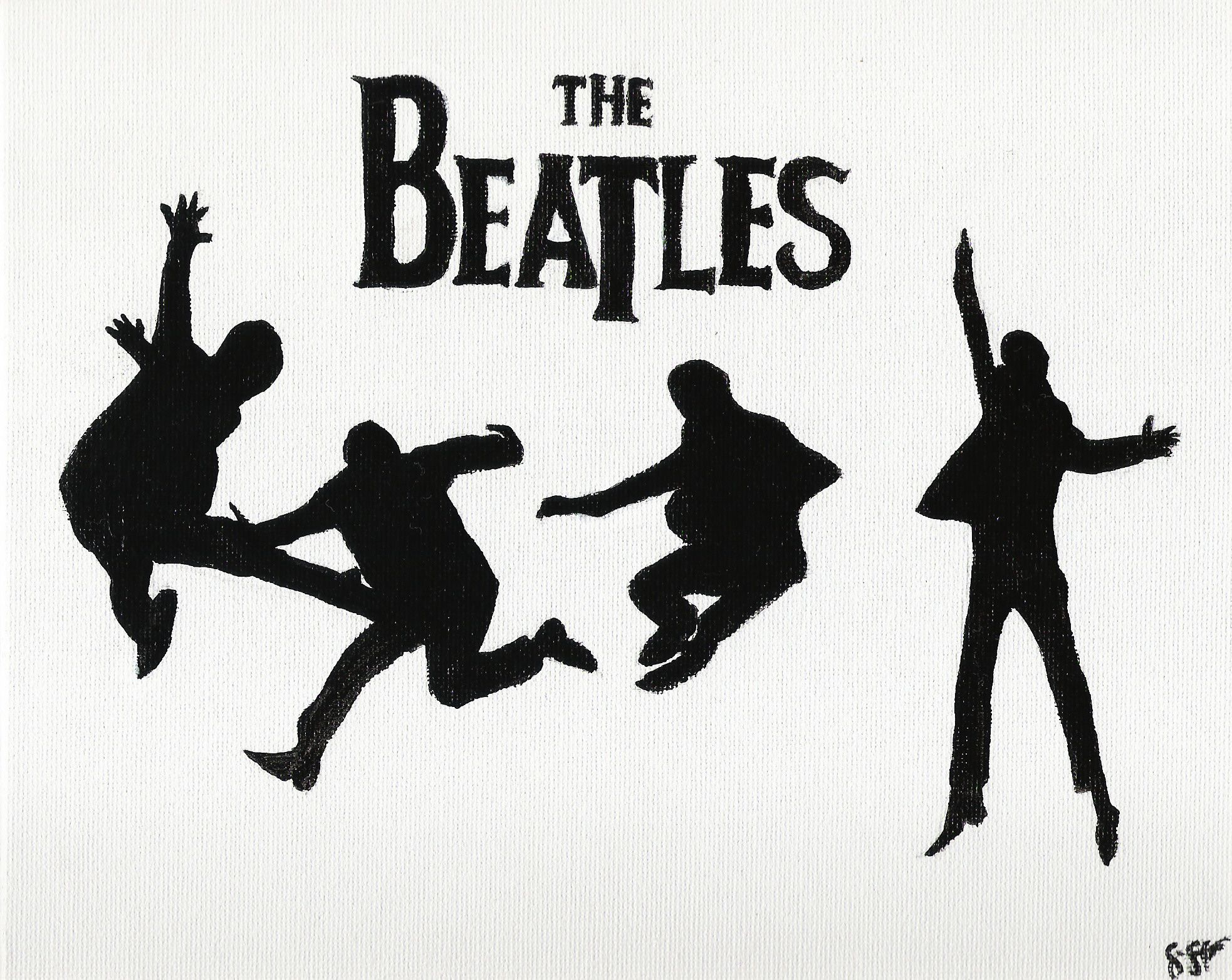 deviantart more like jumping silhouettes thebeatles by shereallean