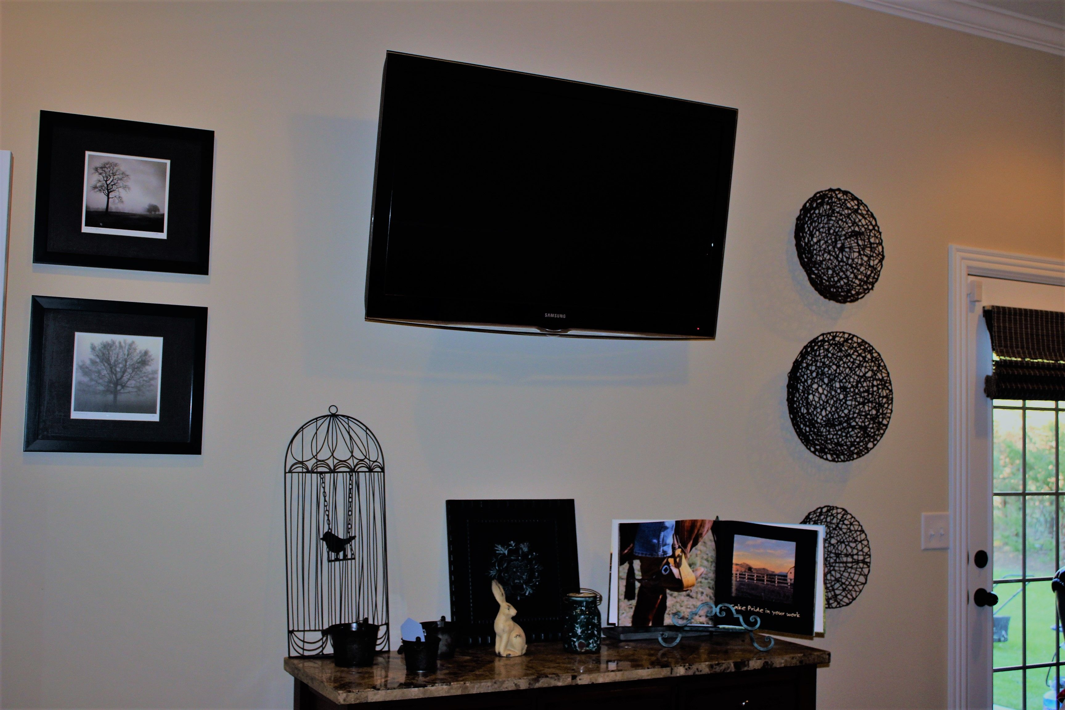 mounted tv in master