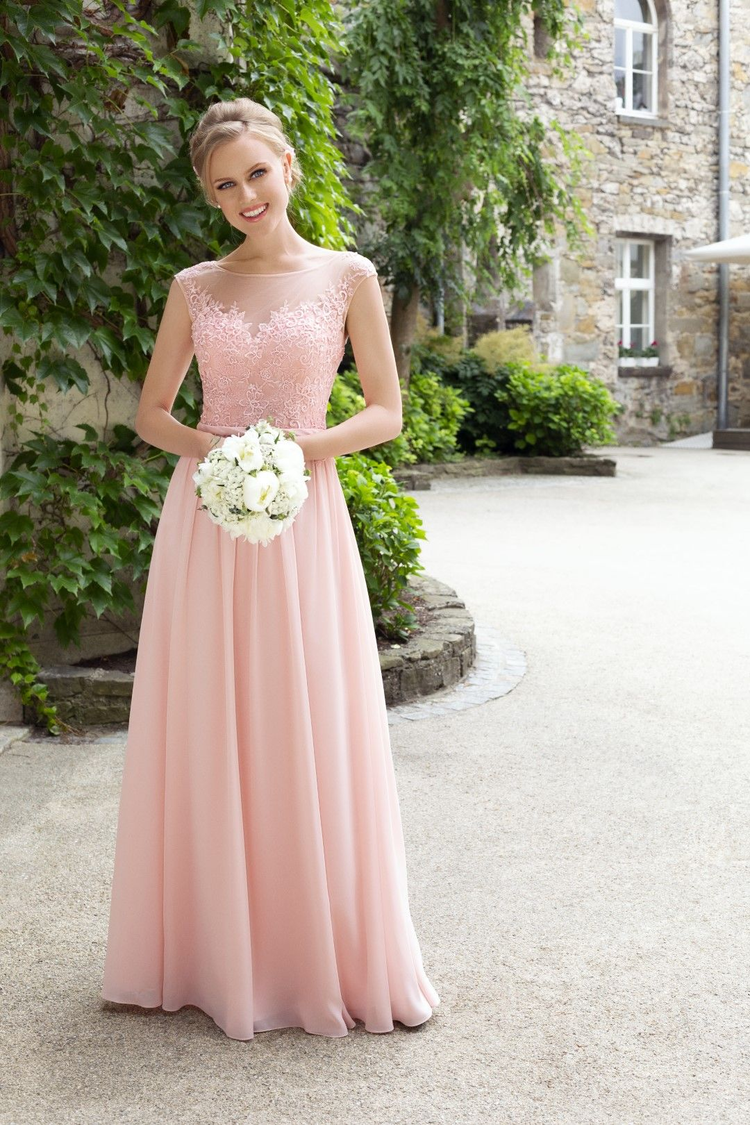 brautjungfernkleid in rose | ballkleid, brautjungfernkleid