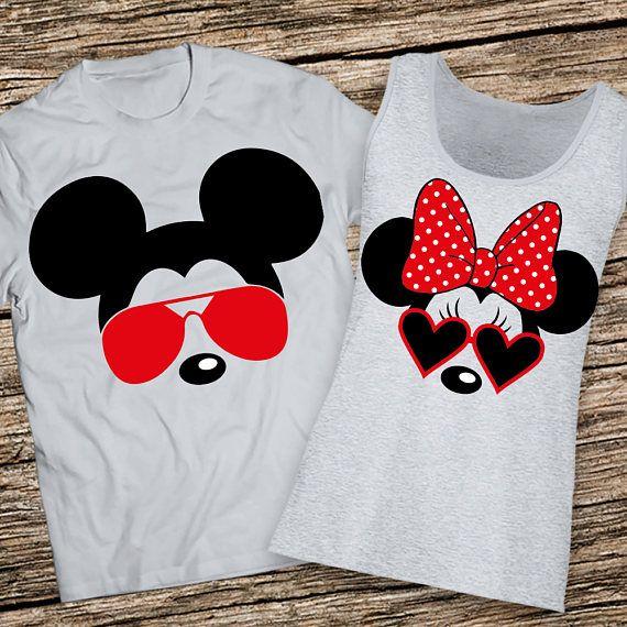 Disney Couples Shirts, Disney Couple Shirts, Mickey and Minnie Couple shirts, Matching Couple Disney Shirts, Couples Disney Personalized