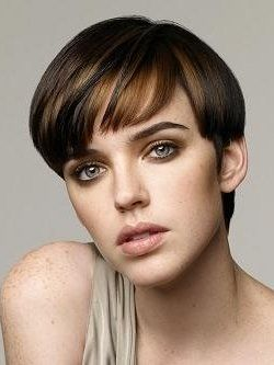 Hairstyle Short Haircut with Bangs