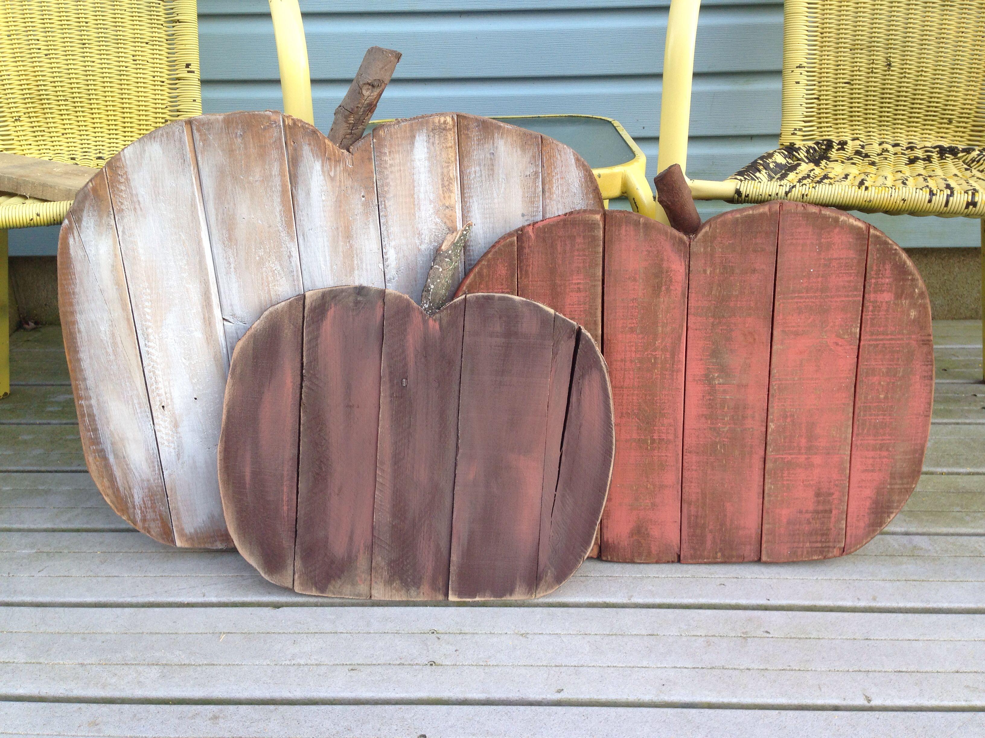 Pumpkins Made From Pallet Wood Pallet Pumpkin Fall Crafts