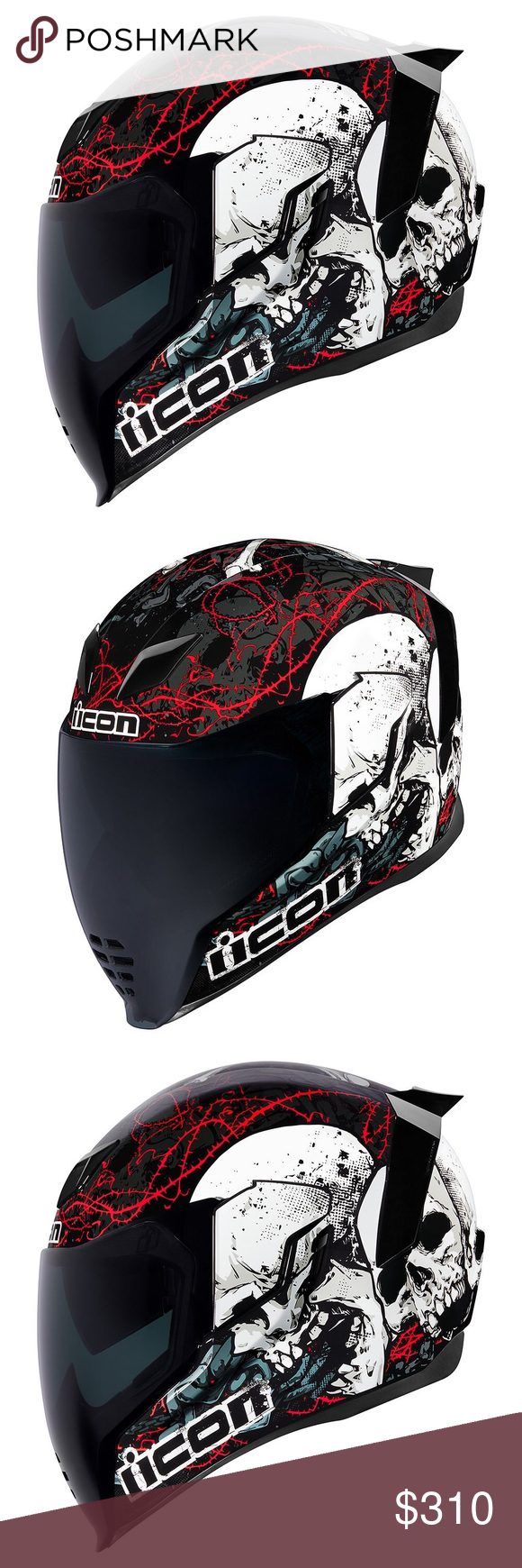 Icon Airflite Skull 18 Motorcycle helmet new WORLD