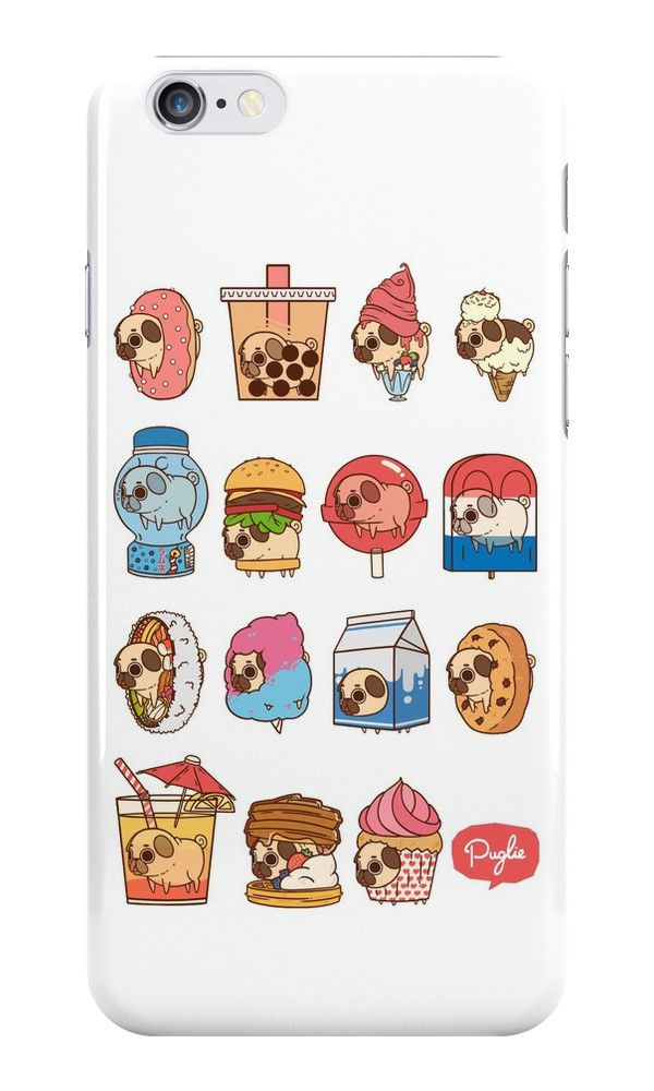Pug Food iphone case