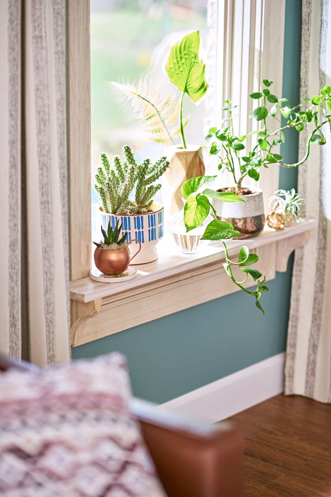 A Windowsill Is The Perfect Spot For A Mini Garde