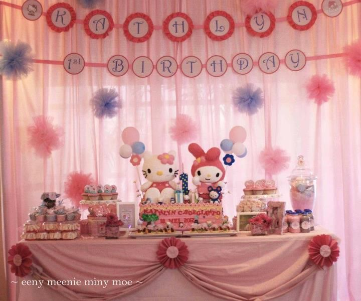 Kitty Themed Party First Birthday Party Theme Ideas for Girls