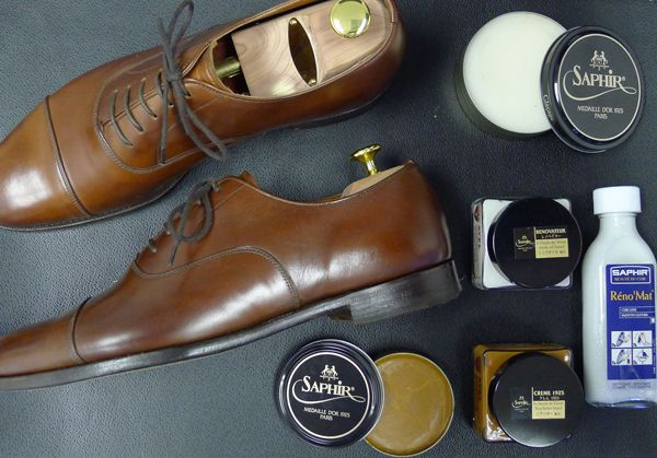"""The Saphir """"Presidental Shine"""" is a thorough shoeshine regiment recommended for two to three times a year."""