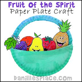 Fruit of the spirit paper plate bible craft for children 39 s for Fruit of the spirit goodness craft