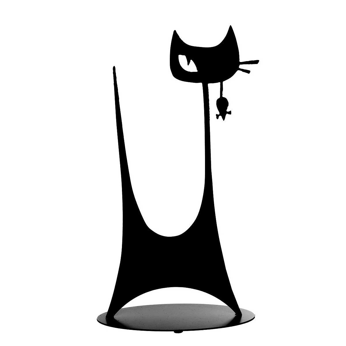 CAT WITH MOUSE STANDING