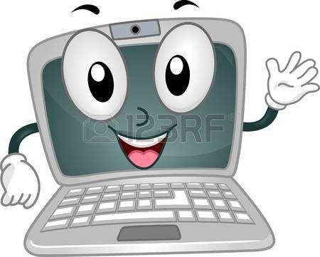 Computadora Caricatura Imagenes De Archivo Vectores Computadora Plantillas Para Diapositivas Utiles Escolares Animados Libros De Informatica