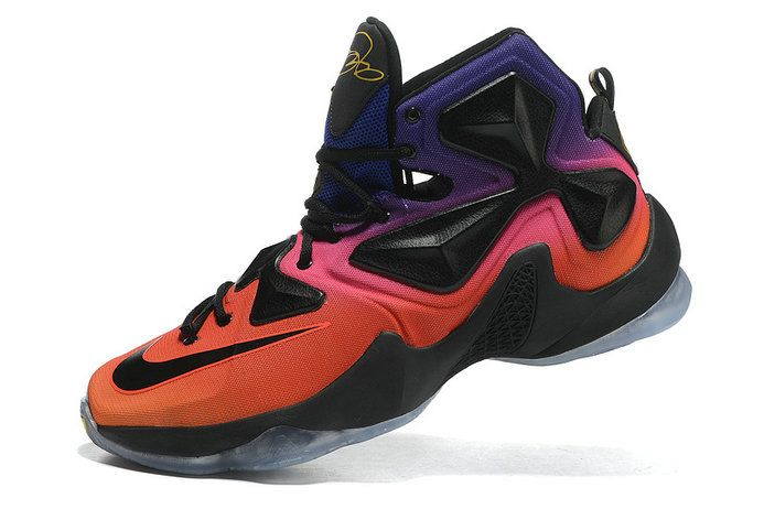d3817a7ab1e05b Free Shipping Only 69  LeBron 13 Doernbecher 838989 805 Black Hot Lava  Sunrise