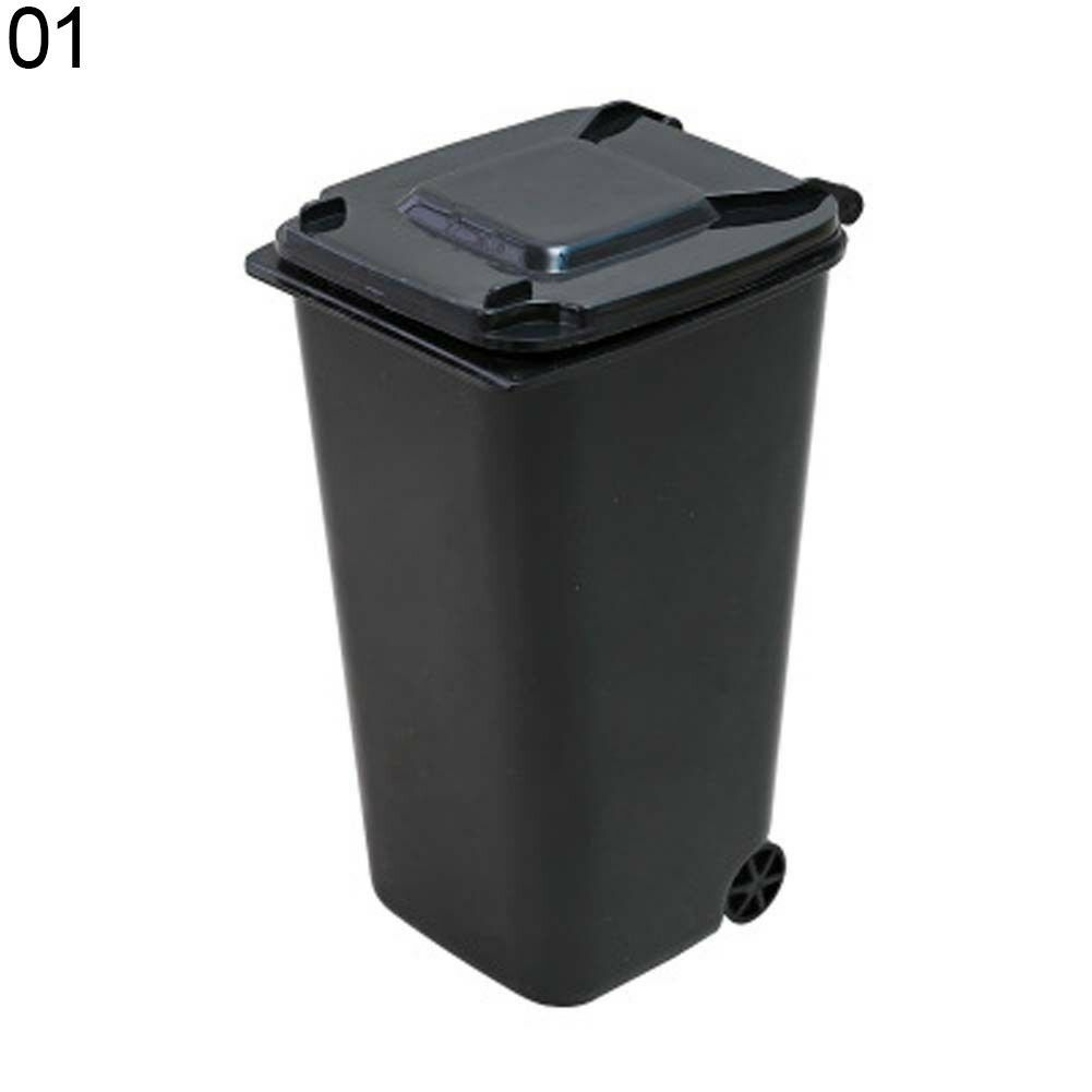 Small Home Table Can Bin Bucket garbage Office Waste Dust Holder Trash Case