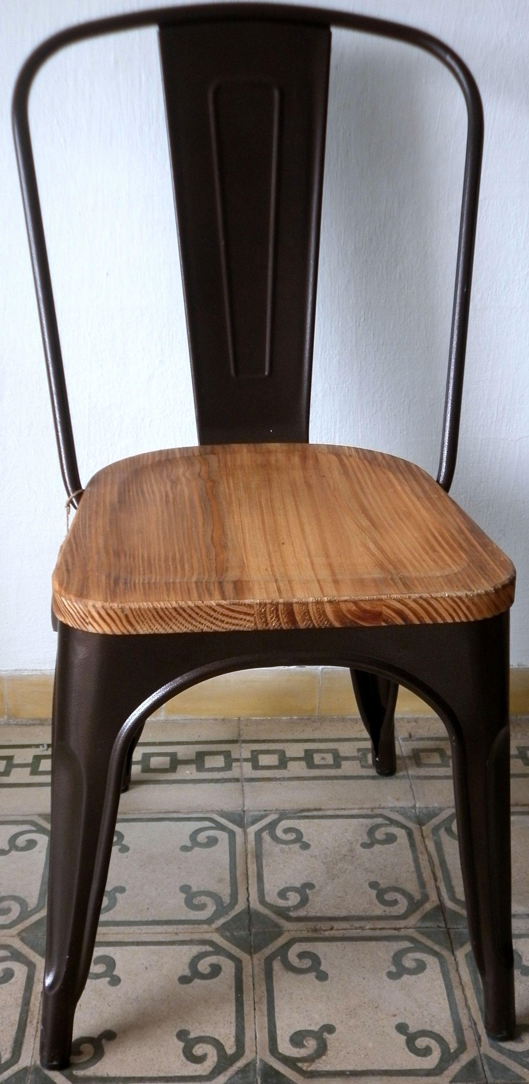 Silla chapa y madera decoracion muebles vintage muebles y sillas - Muebles de chapa ...