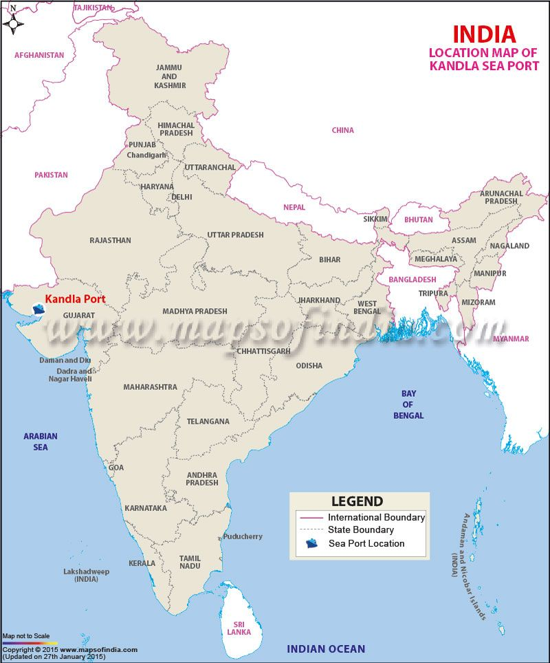 Location map of Kandla Sea Port in 2019 | India map ...