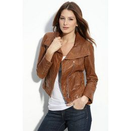 Girls Brown Leather Jacket - My Jacket