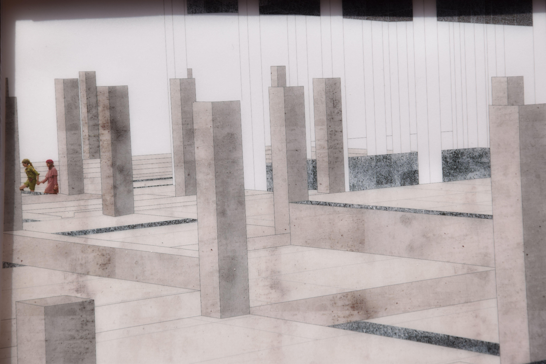 Il giardino dei Pilastri in Rovina. Taranto. Progetto di crisi. Moonrise Kingdom. Gradoni.
