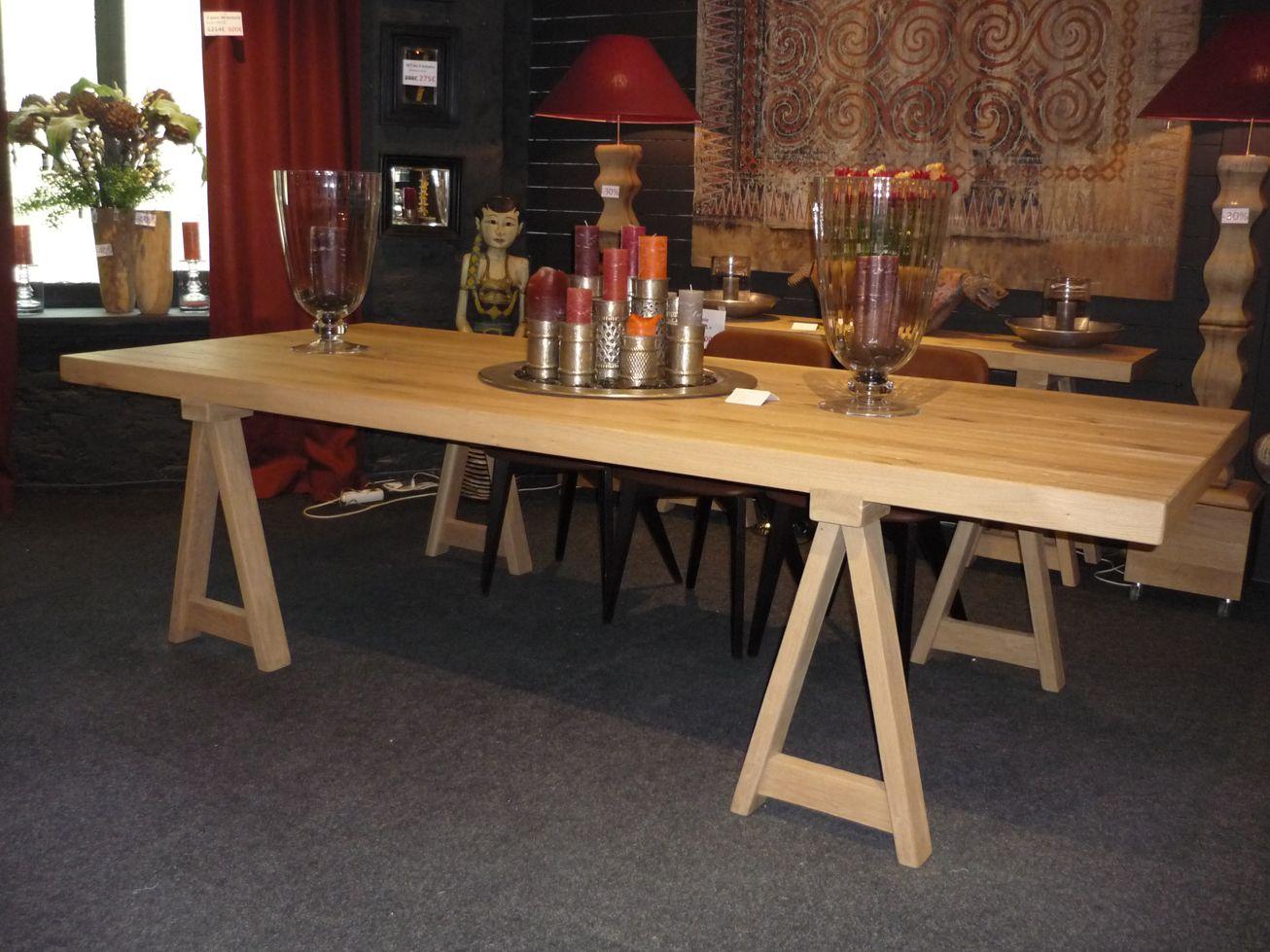 Table De Repas Rustique Tradition Avec Tr Teaux 280x120cm Ch Ne