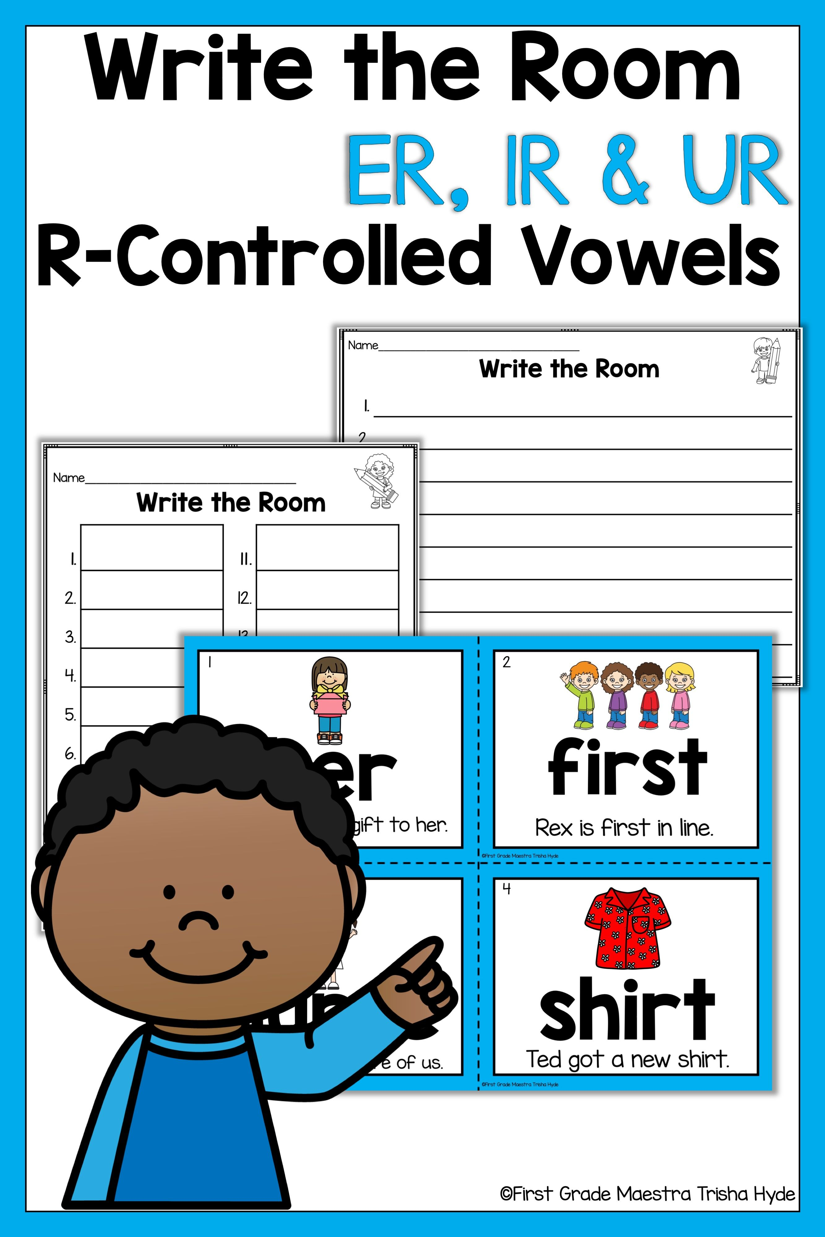 Write The Room R Controlled Er Ir Ur