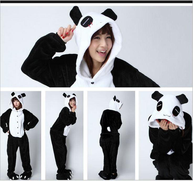 Cheap Pijamas mujer dormir ropa de dormir de Franela salón pijamas Panda  Panda Onesies para adultos 2f219aa1d8a7
