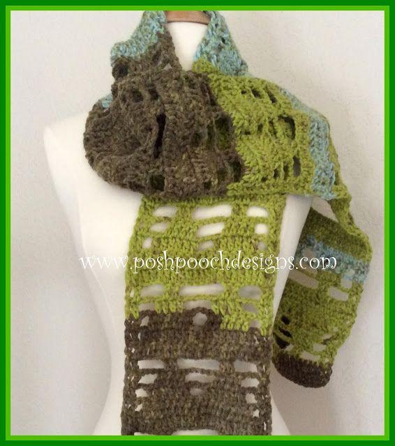Whispering Pines Scarf Crochet Pattern