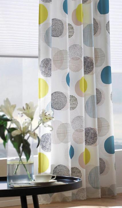 Vorhangstoff Grun Turkis Kreise Verschiedene Farben Blickdichter Stoff Vorhange Zuhause Kinder Zimmer