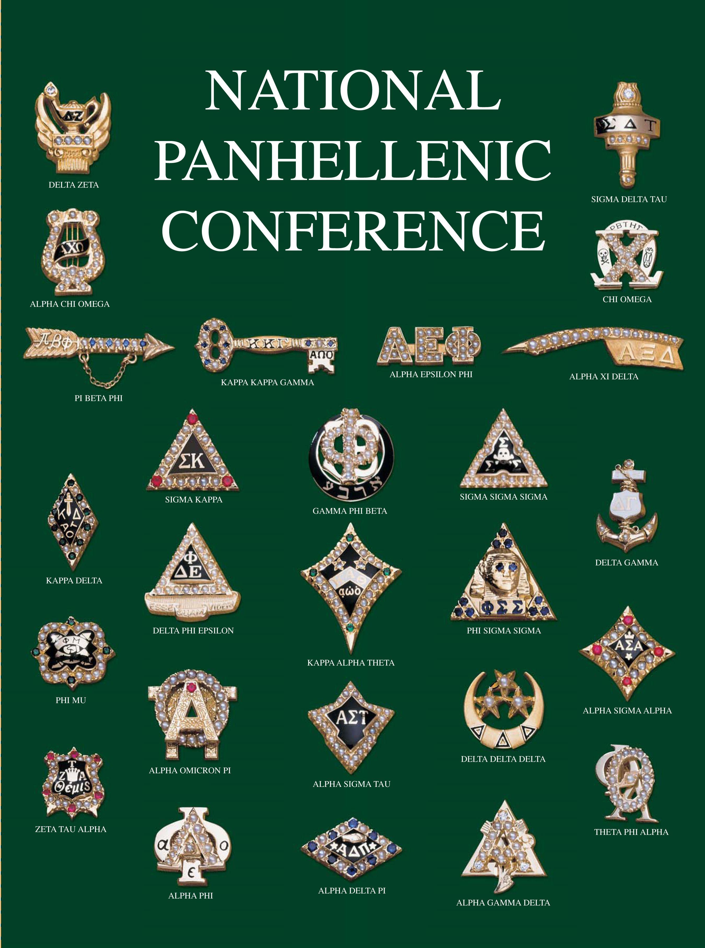 The Badges Of All 26 Npc Member Organizations Panhellenic