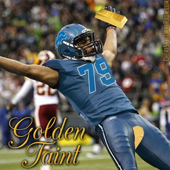 a44e6874 Funny Fantasy Football Logo of Detroit Lions' Golden Tate | Funny ...