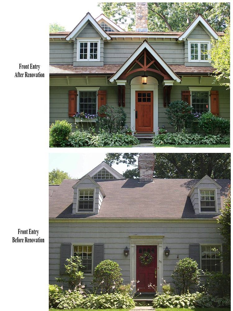 Cape Cod Exterior Renovation Ideas Part - 17: Cape Cod Renovated Into Craftsman Style Home