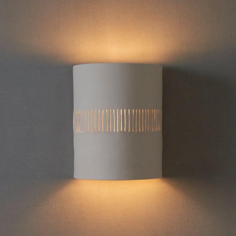 Ceramic Wall Light Bedroom Lighting White Wall Sconce Unique Lighting In 2020 Wall Lights Ceramic Wall Lights Bedroom Lighting