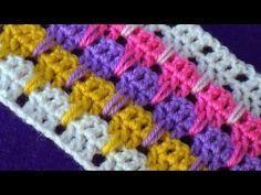 Трёхцветный узор Вязание крючком Crochet pattern 55 - YouTube #strickanleitungbaby
