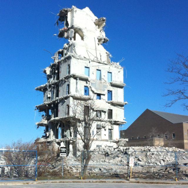 Near 789 Don Mills Rd., Toronto. Building Demolition