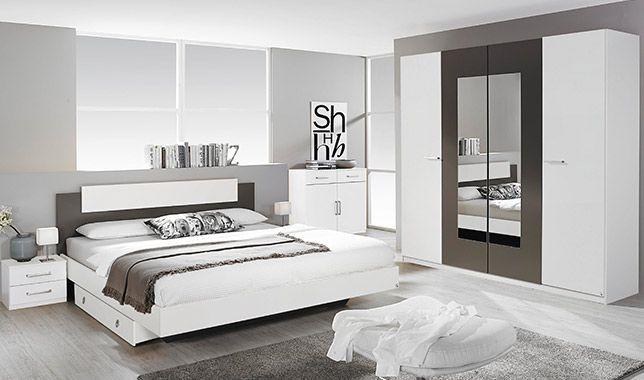 Chambre adulte complète BORBA blanc et gris lave: http://www.basika ...