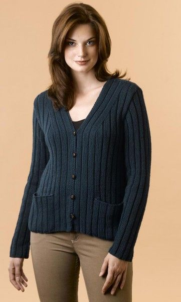 Elen Cashmere Ribbed Cardigan Free Knitting Pattern Pinterest