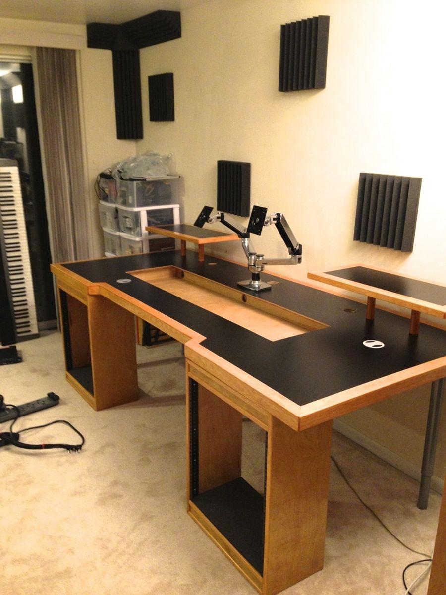 i like this recording music recording studio desk home studio desk studio desk. Black Bedroom Furniture Sets. Home Design Ideas