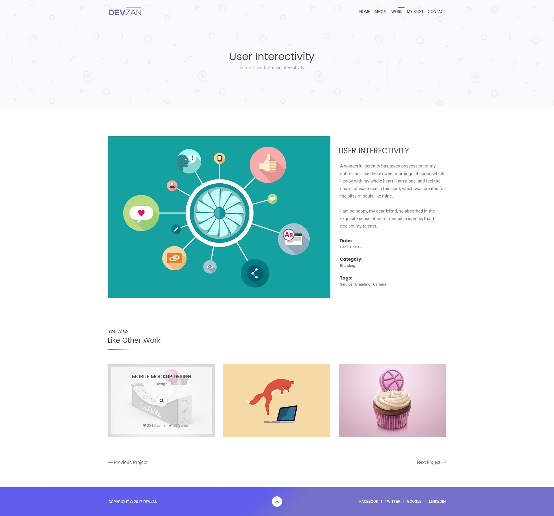 Minimal Psd Portfolio Template With Images: Minimal Personal Portfolio PSD Template #Personal