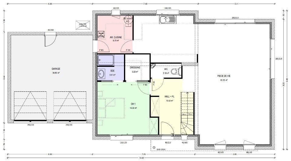 Plan achat maison neuve construire logis du marais for Maison a construire 37