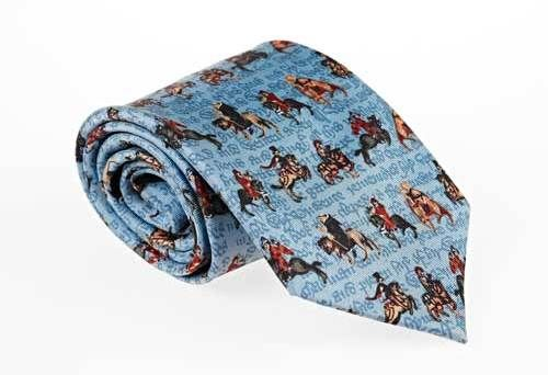 Canterbury Tales tie: This silk tie features characters from Chaucer's classic, available from theBritish Library.