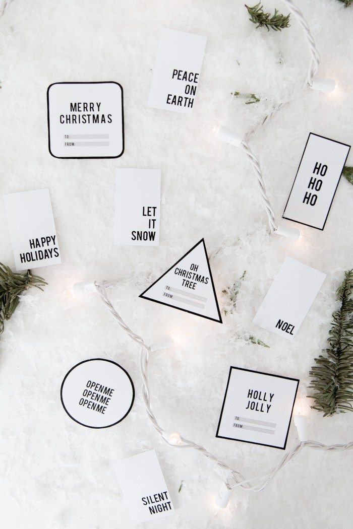 Free Printable Minimalist Gift Tags With Images Christmas Gift