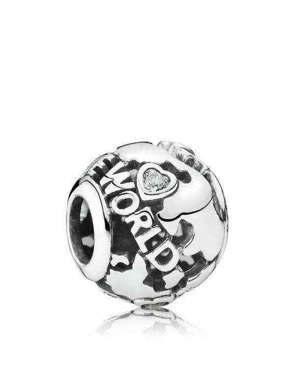 Pandora Women's Bead 925Silver Zirconia Transparent S5ezkx
