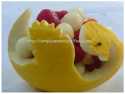 food carving tutorial   ... tutorials by expert village. For more ideas on Melon swan carvings